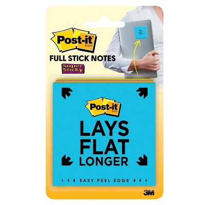 """Post-it 4pk 3"""" x 3"""" Super Sticky Full Adhesive Notes 25 Sheets/Pad - Rio de Janiero Collection"""