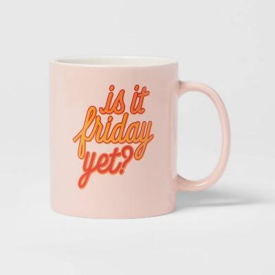 15oz Stoneware Is It Friday Yet Mug - Room Essentials™