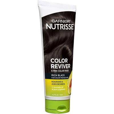 Garnier Nutrisse Color Reviver 5 Minute Nourishing Color Hair Mask - Rich Black - 4.2 fl oz