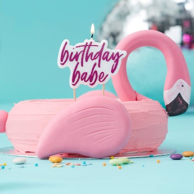 """""""Birthday Babe"""" Party Candles Pink"""