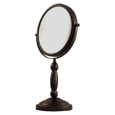 Zadro Dual-Sided 1X/10X Swivel Mirror - Oil-Rubbed Bronze