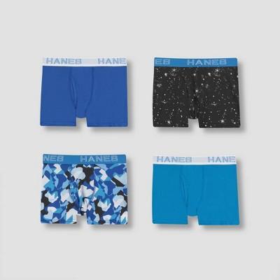 Hanes Boys' 4pk Xtemp Boxer Briefs - Blue