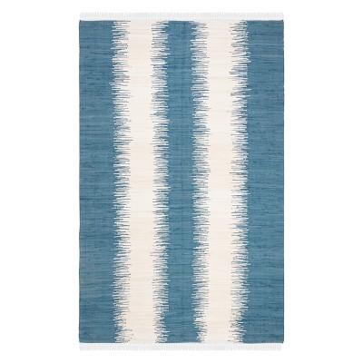 3'X5' Stripe Woven Accent Rug Dark Blue - Safavieh