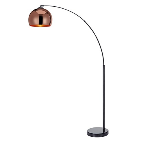 Versanora Arquer Arc Floor Lamp With Rose Gold Finished