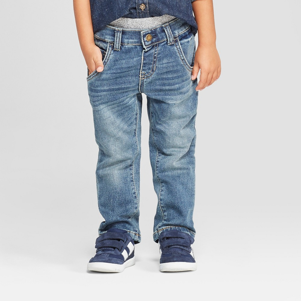 Genuine Kids from OshKosh Toddler Boys' Pull-On Denim - Medium Blue 18M