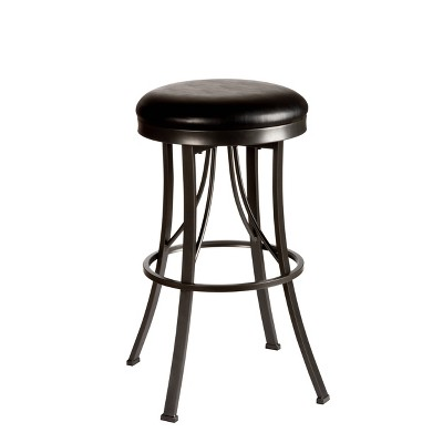 "Ontario Backless 30"" Barstool Metal/Pewter - Hillsdale Furniture"