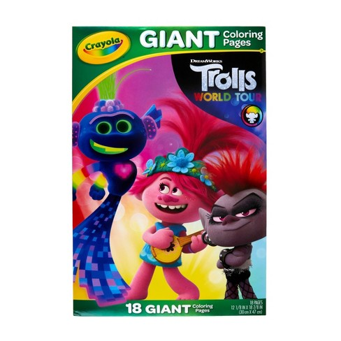 Crayola Giant Coloring Pages Trolls 2 Target