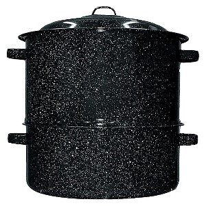 Black 19-qt. 2-pc. Clam/Lobster Steamer Set
