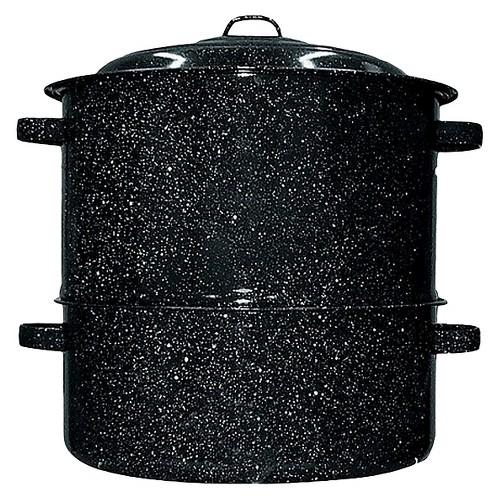 Black 19-qt. 2-pc. Clam/Lobster Steamer Set