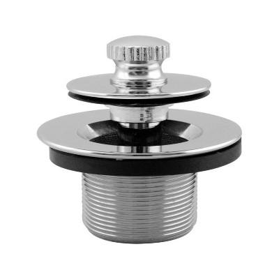 Westbrass 1.25In Twist & Close Drain Plug, Chrome
