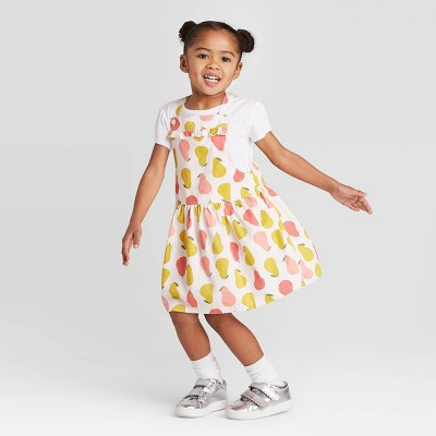 Toddler Girls' 2pc Top and Pear Skirtall Set - Just One You® made by carter's White