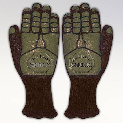 BBQ Gauntlet Gloves - Red - World Famous Smokehouse