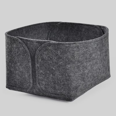 Felt Basket Square Small Charcoal - Project 62™