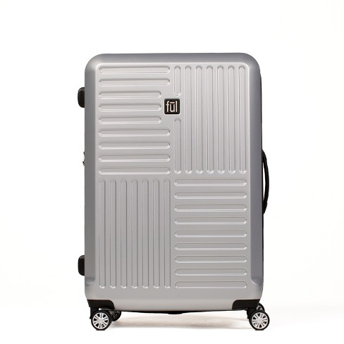 """FUL 25"""" Urban Grid Hardside Spinner Suitcase - Silver - image 1 of 6"""