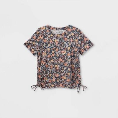 Girls' Short Sleeve Cinched Side T-Shirt - art class™