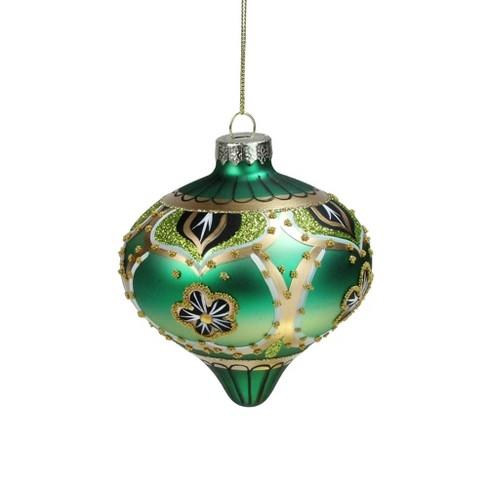 Northlight 4 Rose Gold Retro Ombre Glass Finial Christmas Ornament