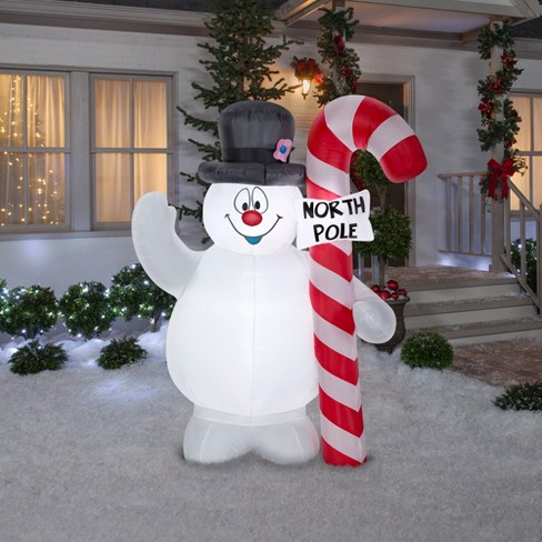 holiday inflatable decoration frosty the snowman hugging north pole sign target - North Pole Christmas Decorations