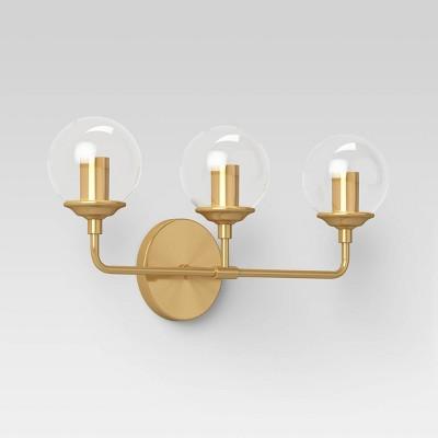 Glass Geneva Globe Vanity Light Brass - Project 62™