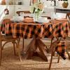"Farmhouse Living Fall Buffalo Check Napkins, Set of 4 - 20"" x 20"" - Black/Orange - Elrene Home Fashions - image 4 of 4"