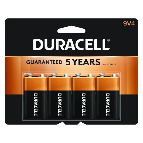 Duracell Coppertop 9V Batteries - 4 Pack Alkaline Battery - image 1 of 4