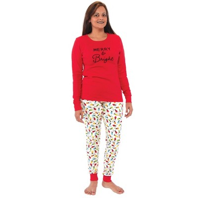 Touched by Nature Womens Unisex Holiday Pajamas, Merry and Bright