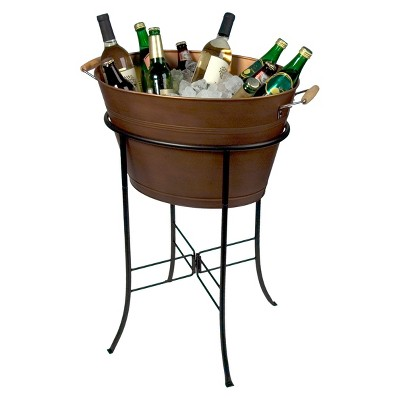 Artland Oasis Antique Copper Tub with Stand - Gold (3gal)