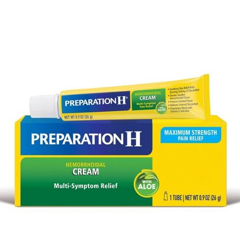 Preparation H Multi-Symptom Relief Hemorrhoidal Cream with Aloe - 0.9oz - image 1 of 4