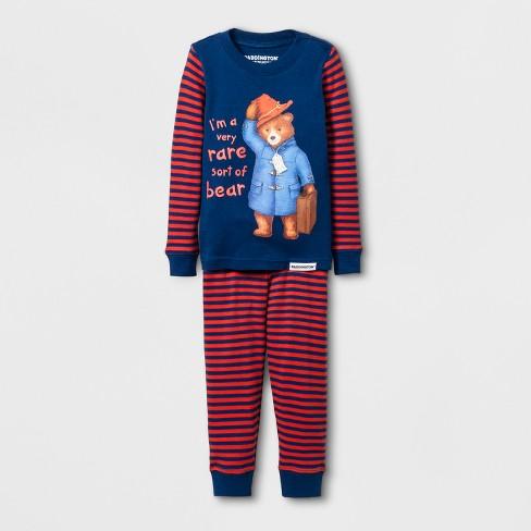 Toddler Boys Paddington Bear 2pc Tight Fit Long Sleeve Pajama Set