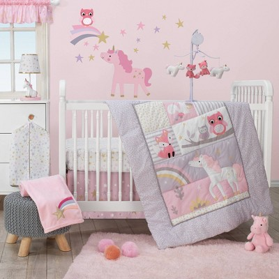 Bedtime Originals Nursery Crib Bedding Set - Rainbow Unicorn 3pc