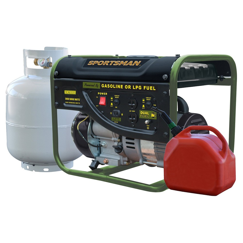 Image of 2000 Watt Portable Dual Fuel Generator - Black - Sportsman
