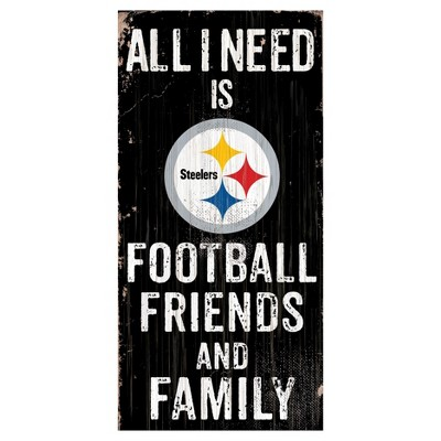 NFL Fan Creations All I need Is Football, Family & Friends Sign