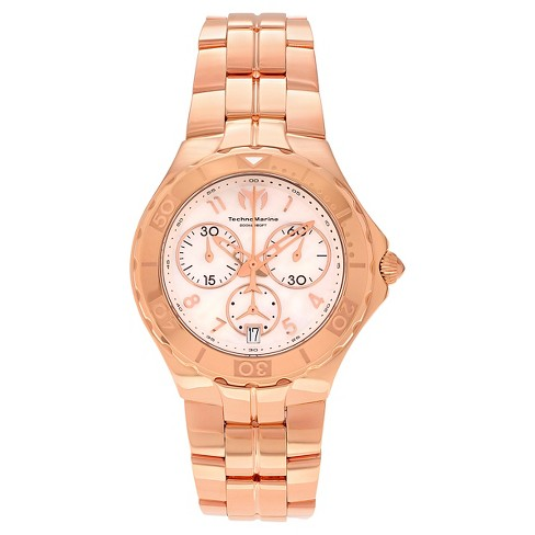 Men's Technomarine TM-715005 Sea Pearl Quartz White Dial Link Watch - Rose Gold - image 1 of 3