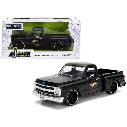 1969 Chevrolet C10 Stepside Pickup Truck Matt Black Garage Nuts