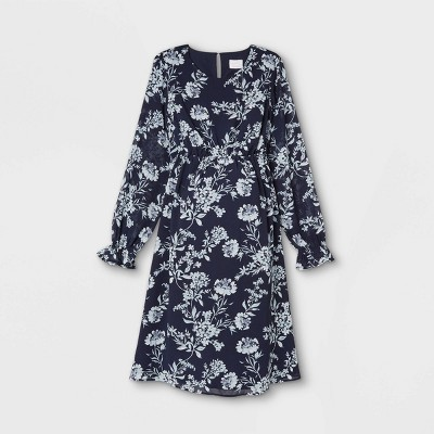 Floral Print Long Sleeve Maternity Dress - Isabel Maternity by Ingrid & Isabel™