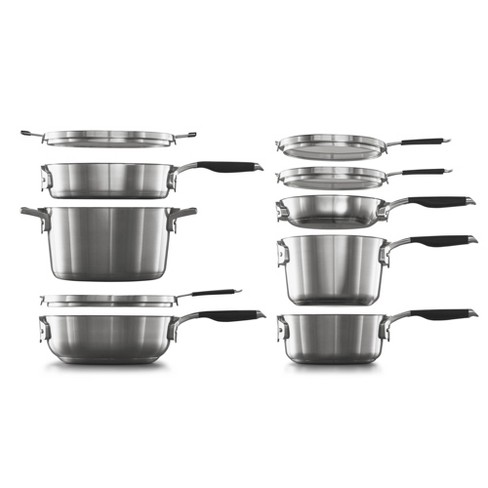 Select by Calphalon 10pc Stainless Steel Space Saving Set - image 1 of 4