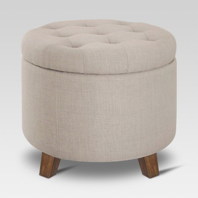 Tufted Round Storage Ottoman - Threshold™