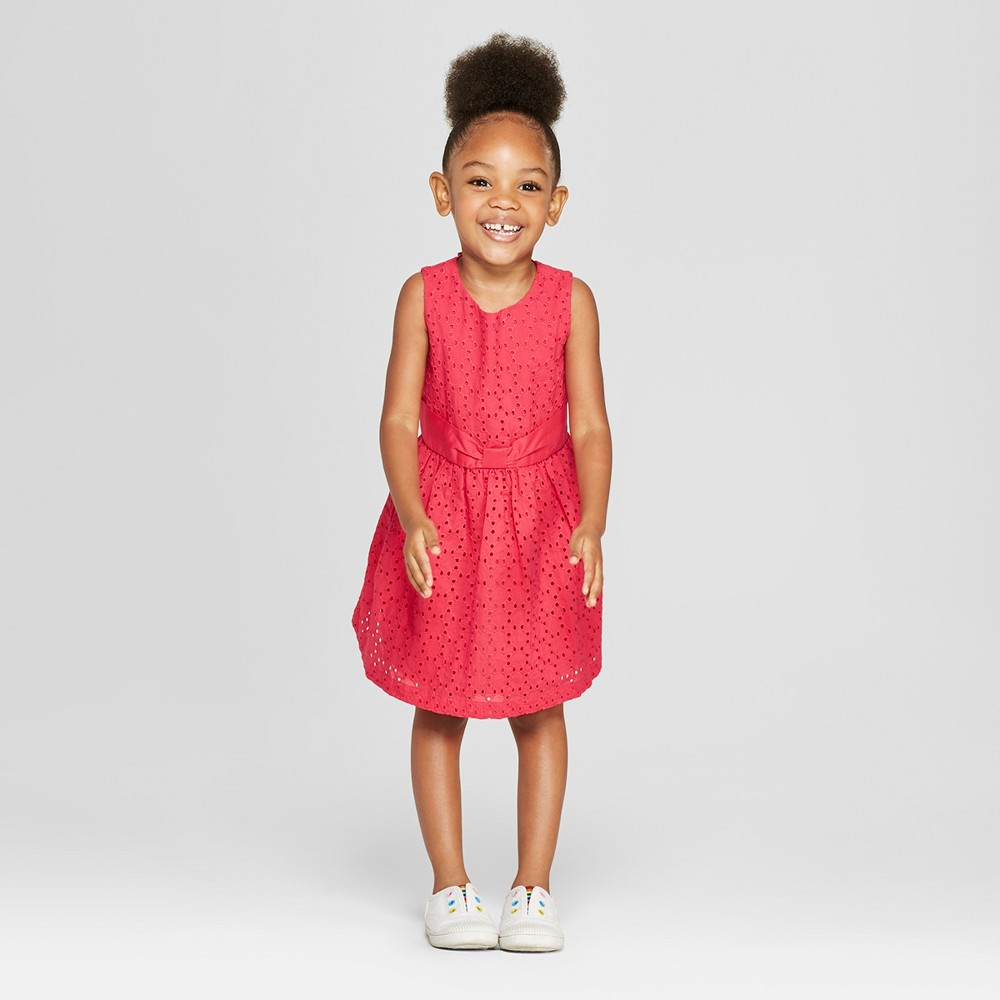 Toddler Girls' A-Line Dress - Cat & Jack Red 2T