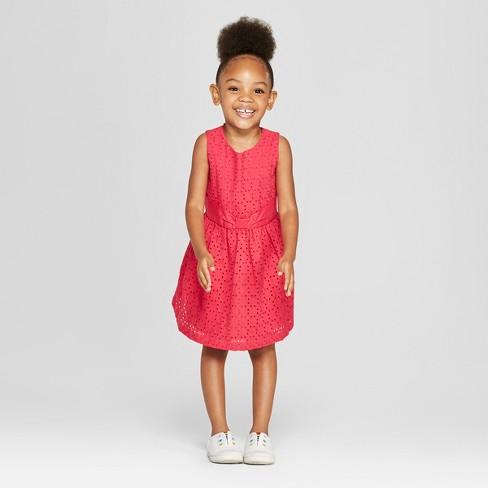 f432edbe2 Toddler Girls' A-Line Dress - Cat & Jack™ Red 5T : Target