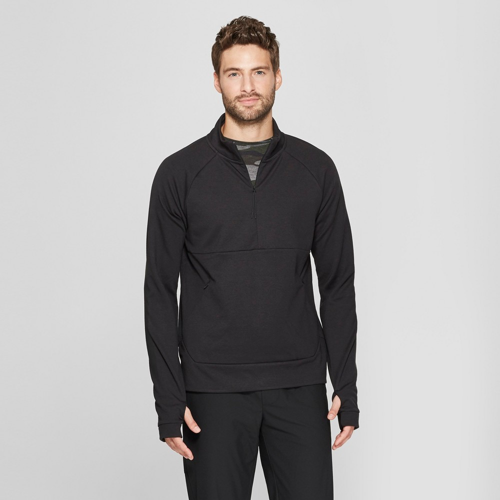 Men's Ponte Knit Quarter Zip - C9 Champion Black XL