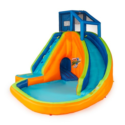 Banzai Sidewinder Falls Inflatable Water Park Play Pool with Slides and Cannons - image 1 of 4