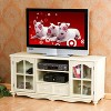 """Coventry TV Stand - Antique White 52"""" -Aiden Lane - image 3 of 4"""