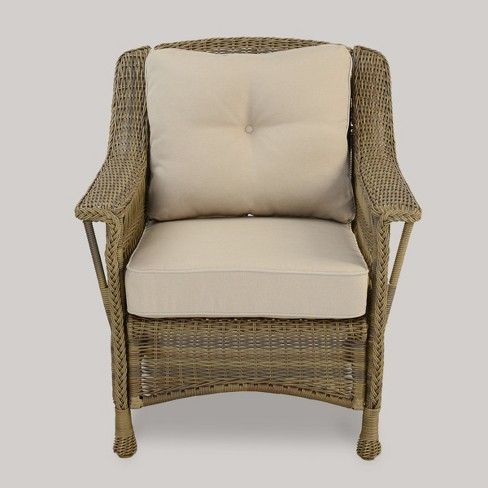 Cambridge All Weather Wicker Club Chair - Tan - Threshold™ - Cambridge All Weather Wicker Club Chair - Tan -... : Target