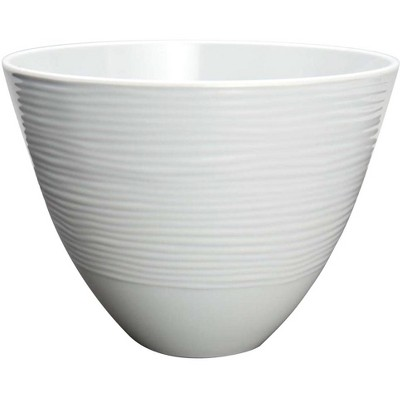 "Zak Designs Small 8"" Silver Melamine Serving Bowl"