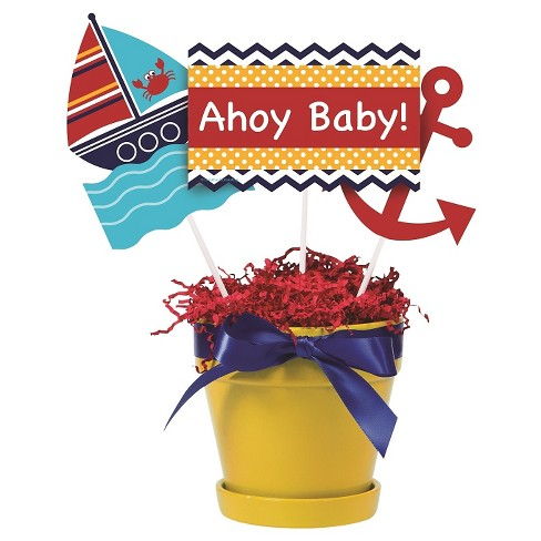 Ahoy Matey Baby Shower Centerpiece Decoration Sticks Target