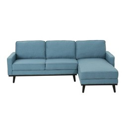 Matilda Mid Century Chaise Sectional Sofa - Christopher Knight Home