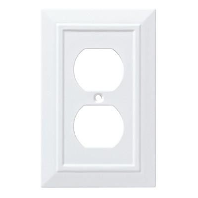 Franklin Brass Classic Architecture Single Duplex Wall Plate White