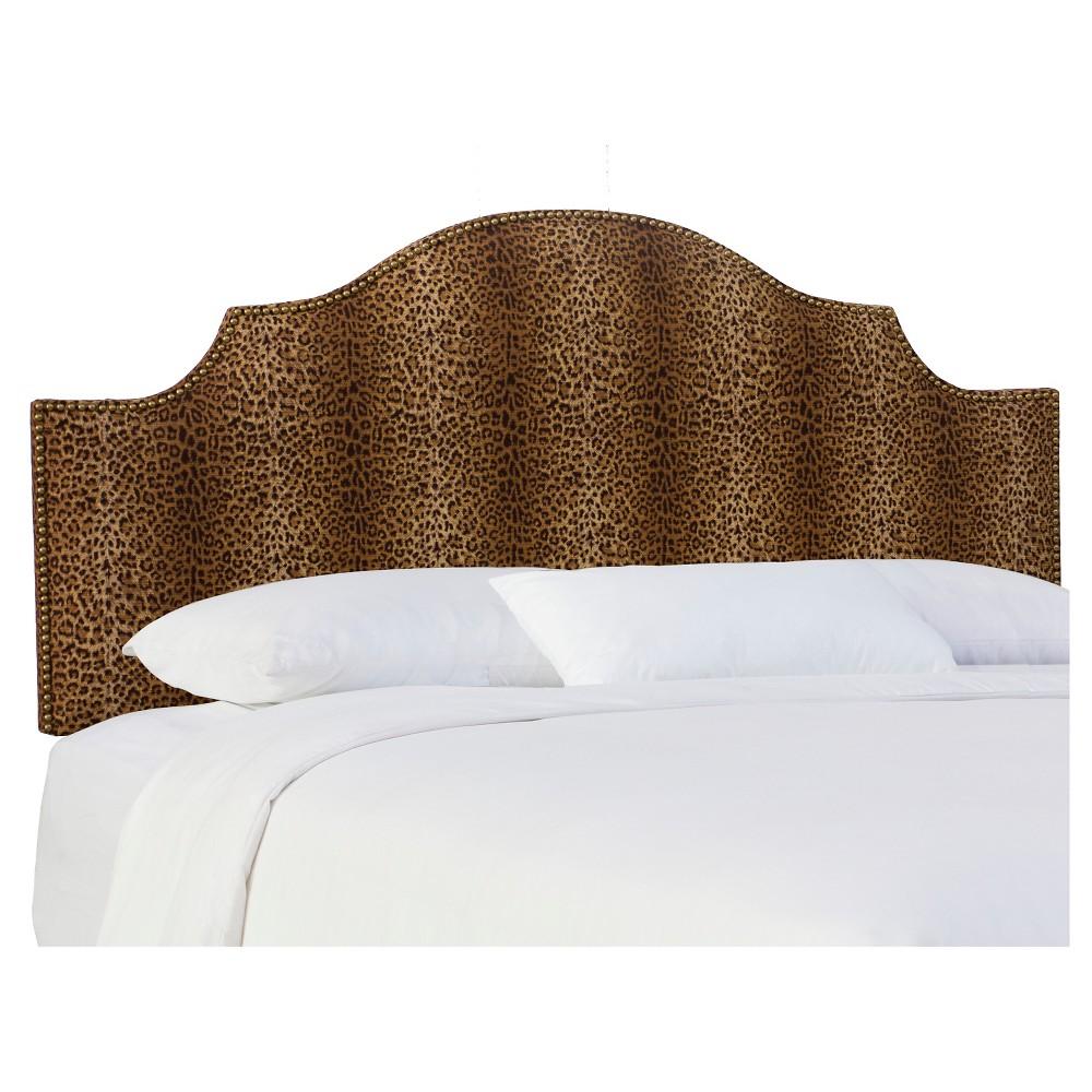 King Carlton Upholstered Headboard Cheetah Earth Skyline Furniture