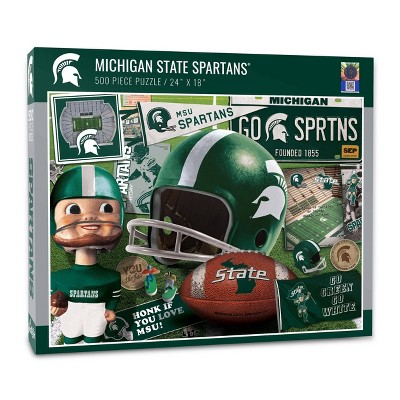 NCAA Michigan State Spartans Throwback Puzzle 500pc