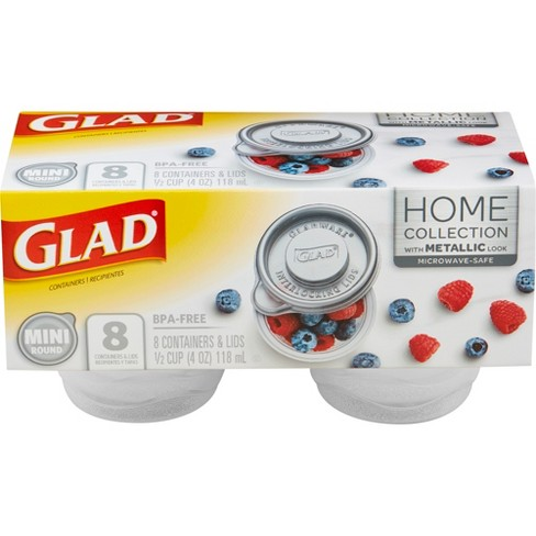Glad Home Collection Mini Round Food Storage Containers - 4oz - 8 Containers - image 1 of 8
