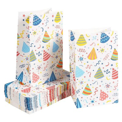 36-Pack Party Favor Bags for Kids Birthday, Perfect for Gifts, Goodies, Treats, Candies, 5.1 x 8.75 x 3.25 Inches